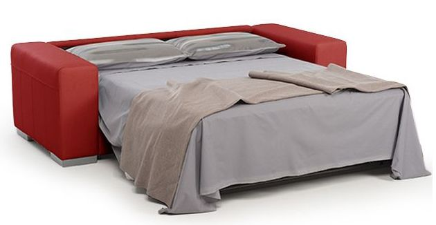 HARRY, Canapé convertible usage quotidien système d'ouverture rapid'lit couchage 140cm en cuir