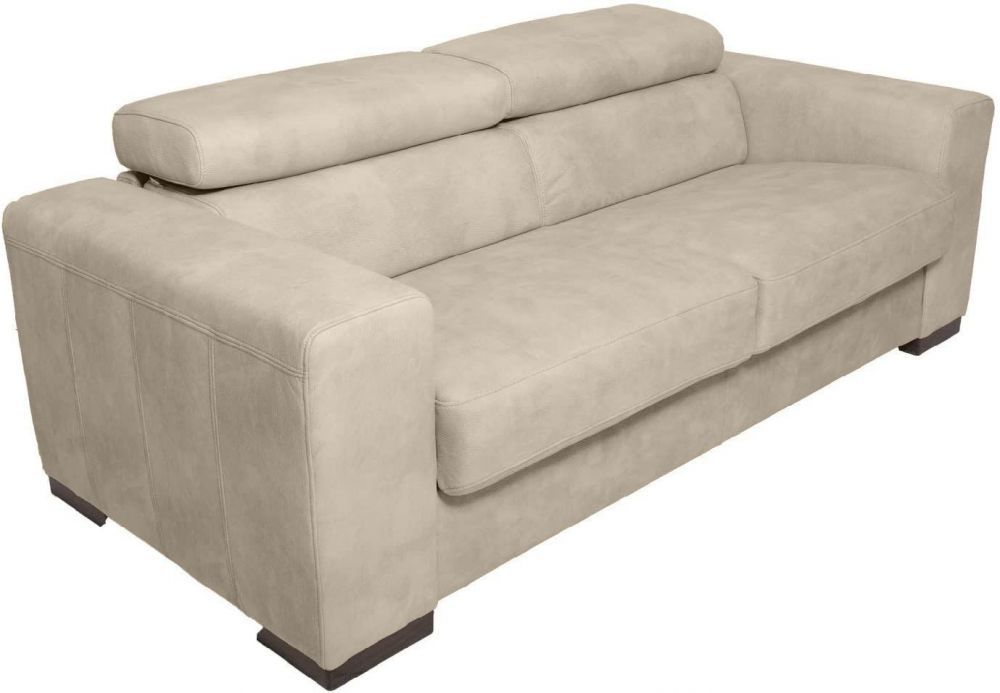 Canapé convertible HARRY usage quotidien système d\'ouverture rapid\'lit couchage 140cm en tissu nubuck EVA