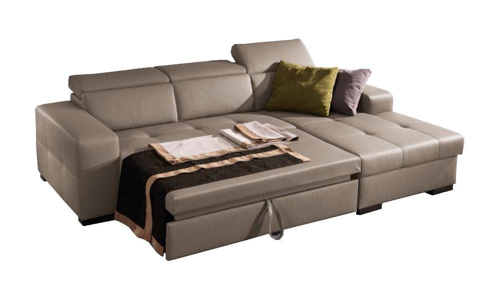 Canapé convertible Dylan système gigogne angle droit (non réversible) tissu tweed MARA