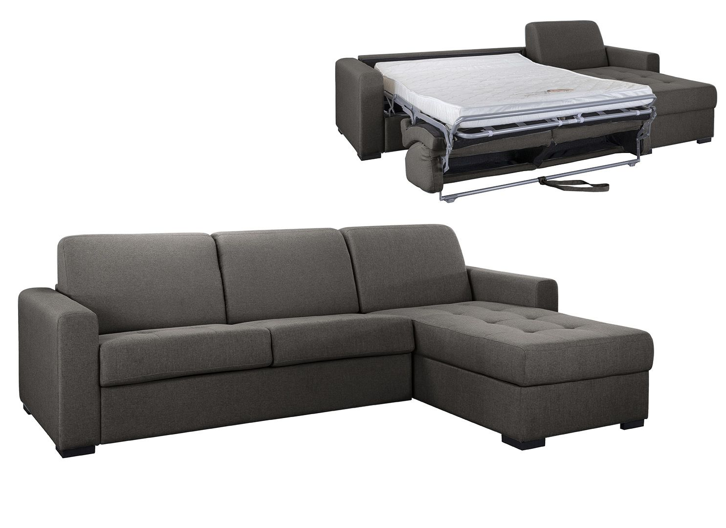 Angle Convertible pour usage QUOTIDIEN «ANGELICA» -  COUCHAGE 140cm