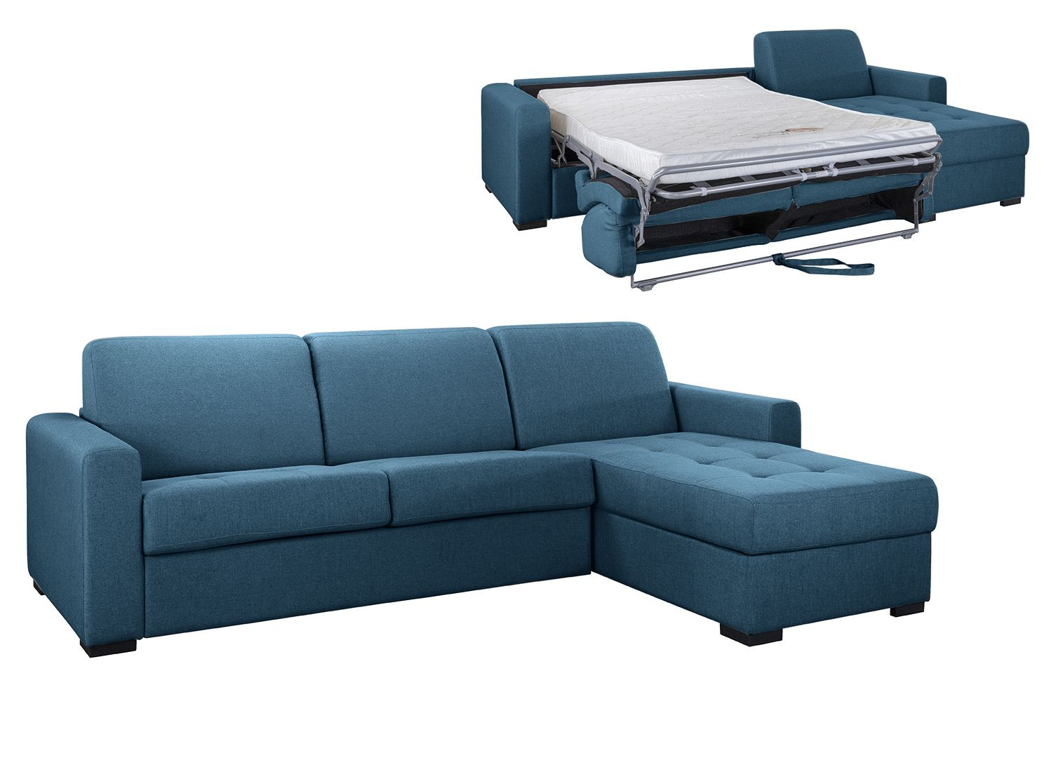 Angle Convertible pour usage QUOTIDIEN « ANGELICA» -  COUCHAGE 140cm