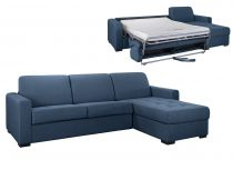 Angle Convertible pour usage QUOTIDIEN « ANGELICA »  COUCHAGE 140cm, tissu FLASH