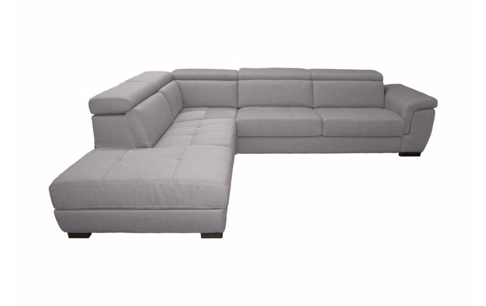 BIG RONALD, Canapé d\'angle convertible, système rapid\'lit, méridienne gauche (non réversible) en tissu tweed MARA
