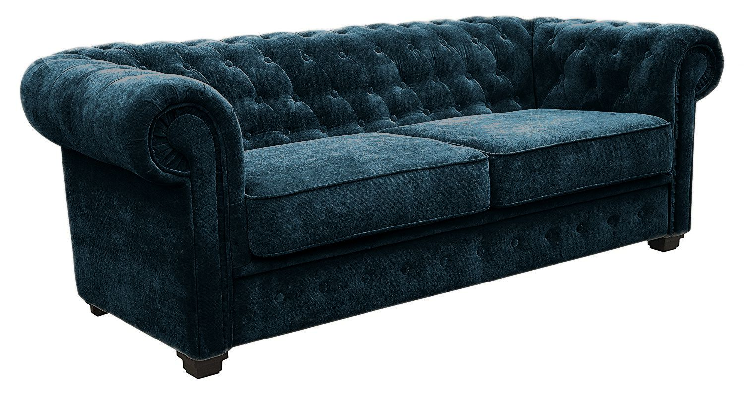 Canapé 3 places chesterfield IMPERIAL Tissu TIFFANY CONVERTIBLE