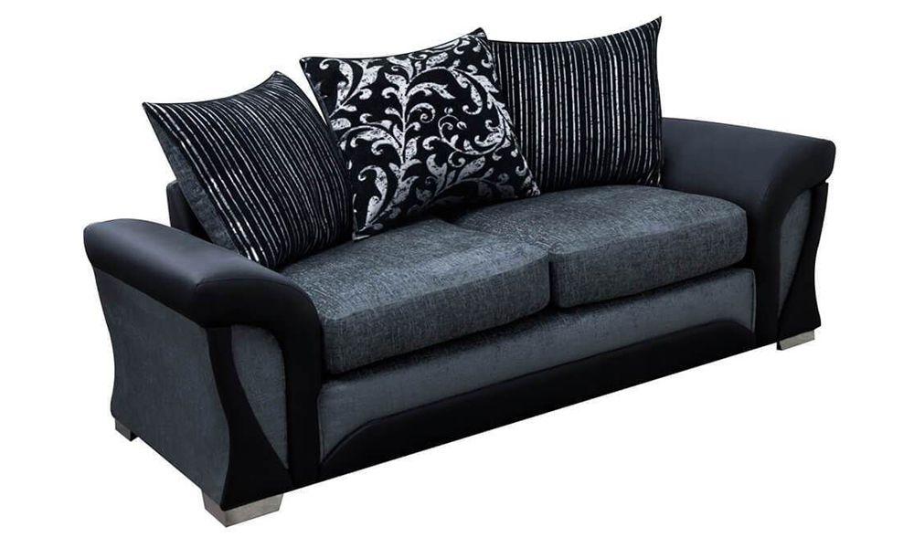 Canapé 3 places SHANNON revêtement principal tissu COBRA
