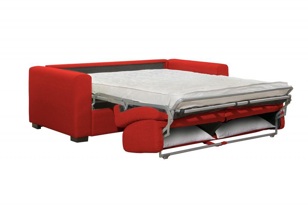 Canapé convertible BOLOGNA ouverture rapid\'lit, couchage 140cm tissu FLASH