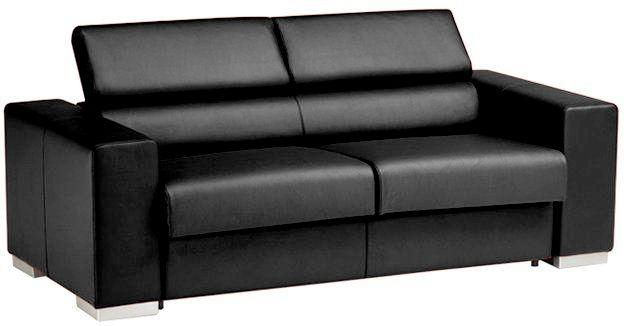Canapé convertible HARRY usage quotidien système d\'ouverture rapid\'lit couchage 140cm en cuir