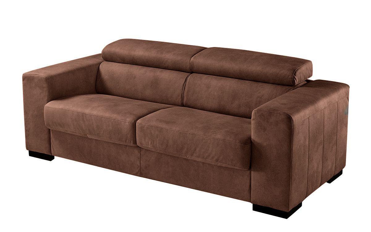 Canapé convertible HARRY usage quotidien système d\'ouverture rapid\'lit couchage 140cm en tissu tweed MARA