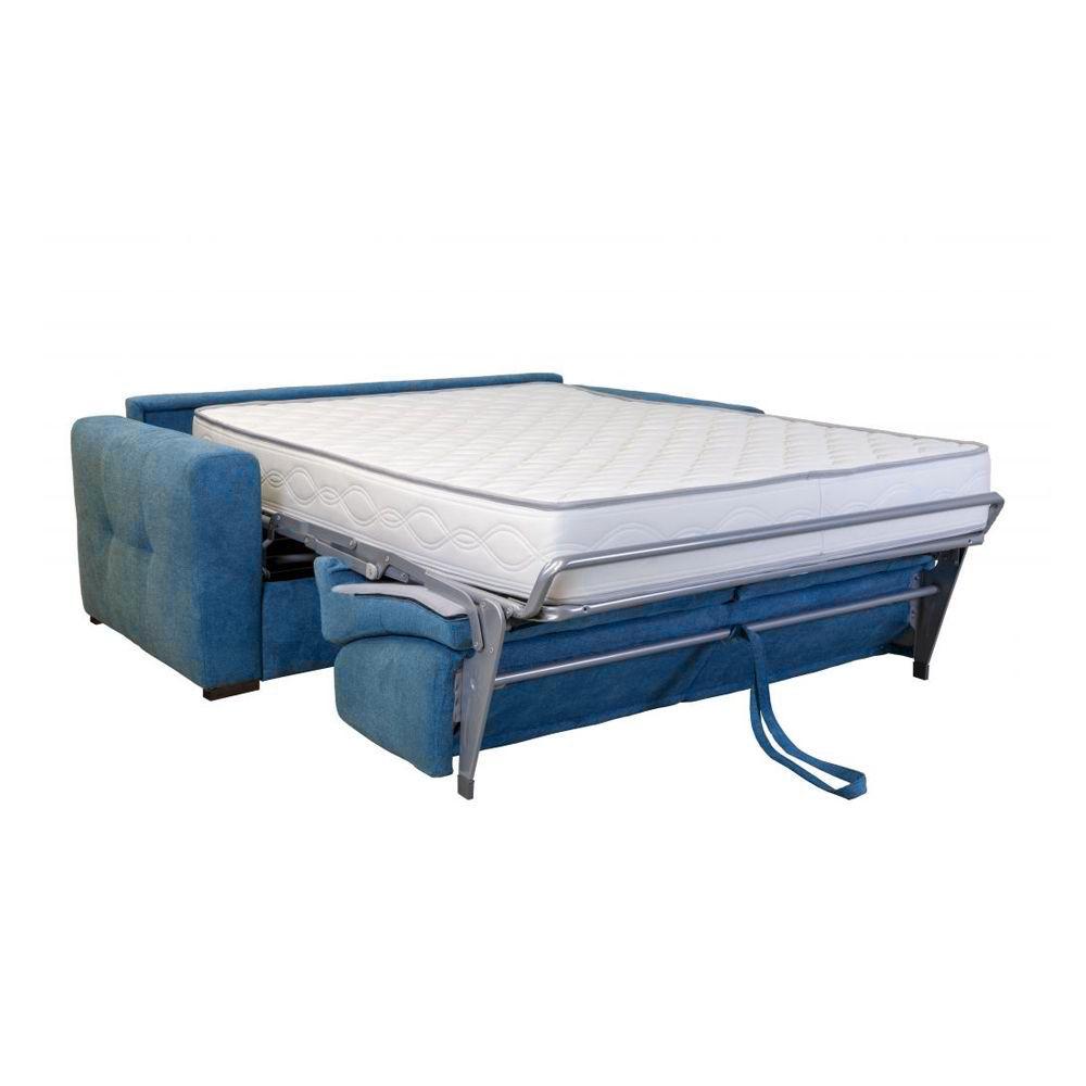 Canapé convertible PRIMO 22 usage quotidien couchage 120cm, système rapido avec matelas de 22cm, en tissu LUNA