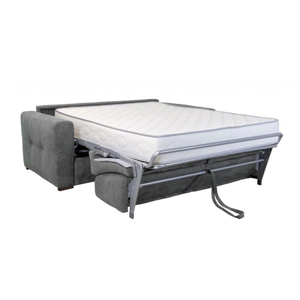 Canapé convertible PRIMO 22 usage quotidien couchage 140cm, système rapido avec matelas de 22cm, en tissu LUNA
