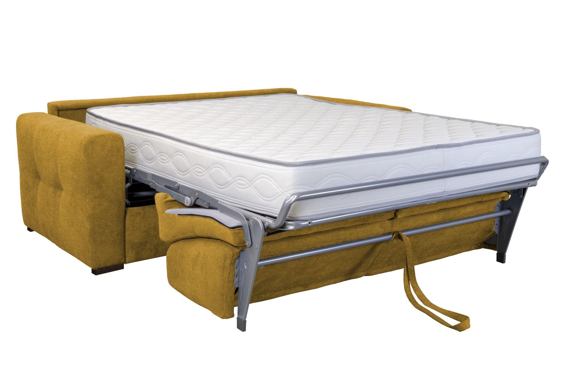 Canapé convertible PRIMO 22 usage quotidien couchage 140cm, système rapido avec matelas de 22cm, en velours TIFFANY