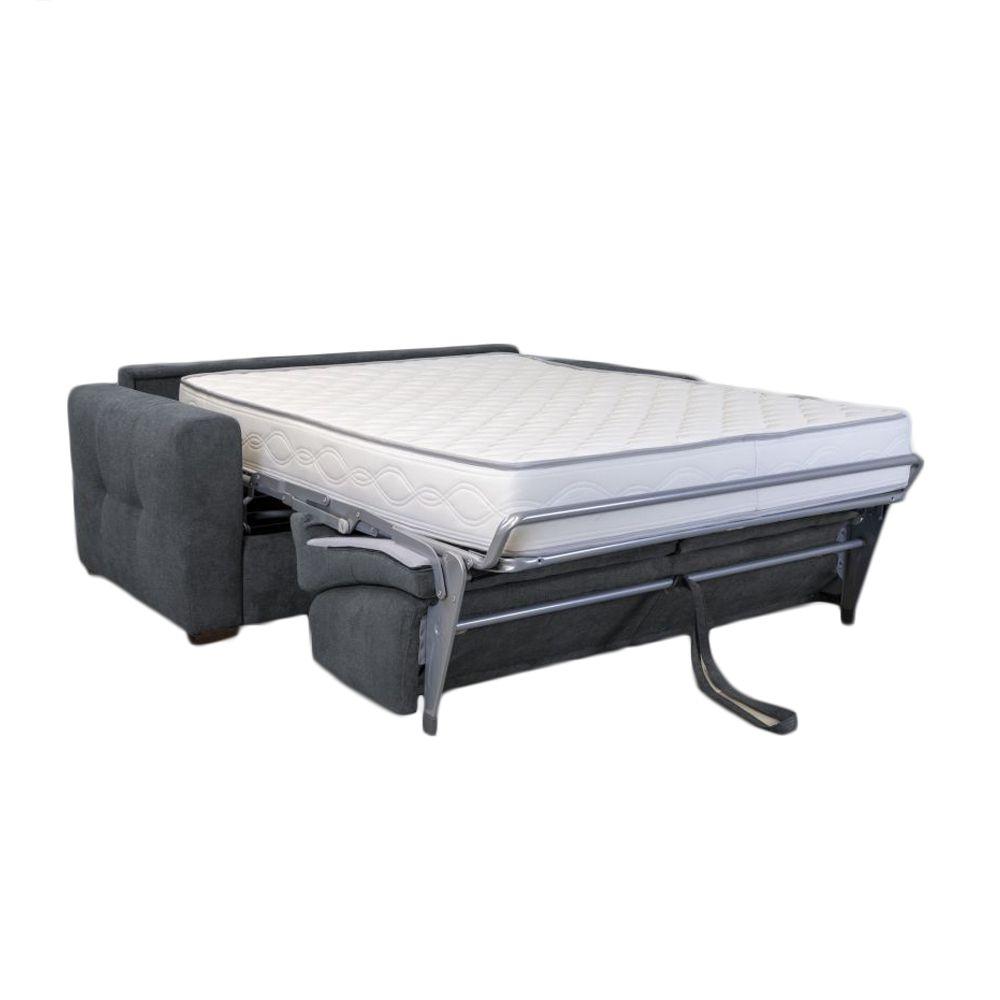 Canapé convertible PRIMO 22 usage quotidien couchage 160cm, système rapido avec matelas de 22cm, en velours TIFFANY