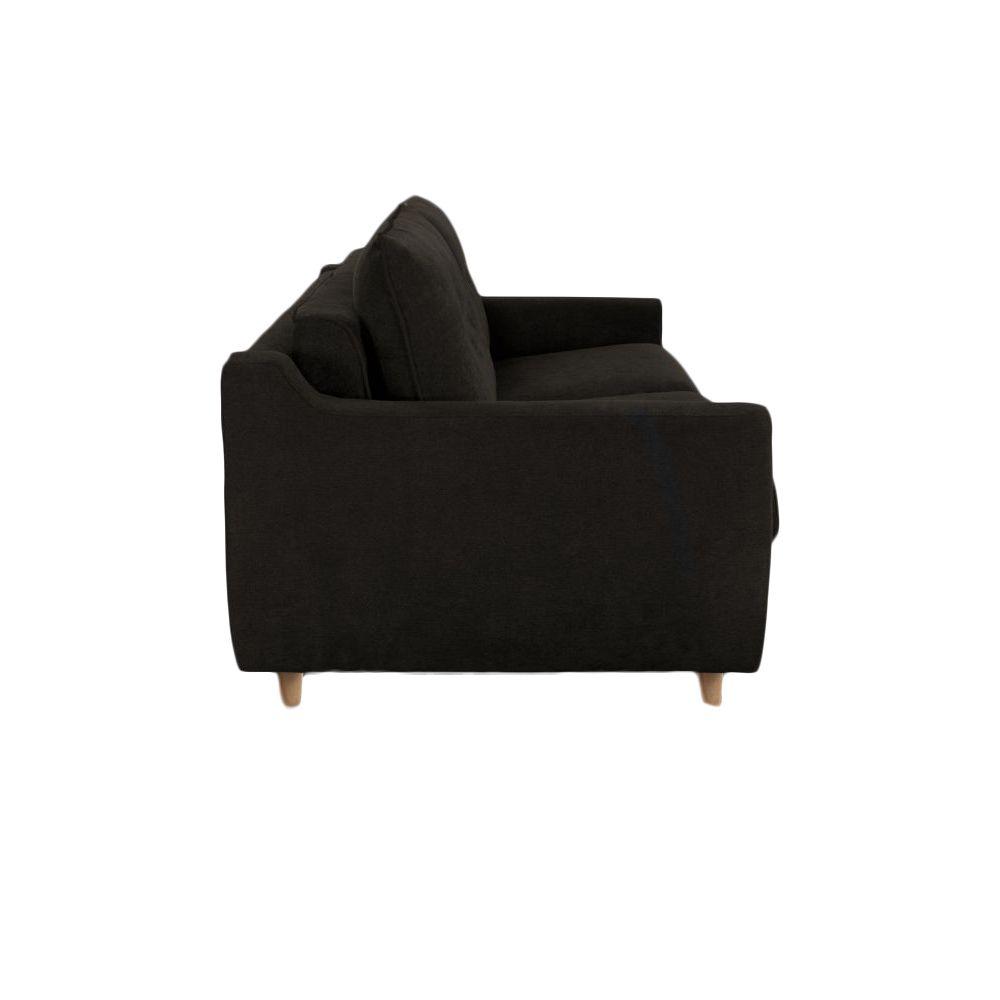 Canapé convertible Rapid\'lit STELLA, couchage 120cm en tissu tweed LUNA