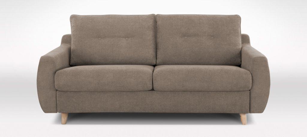 Canapé convertible Rapid\'lit STELLA, couchage 140cm en tissu chiné ARTEMIS