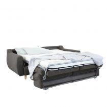 Canapé convertible Rapid\'lit STELLA, couchage 140cm en tissu tweed Luna