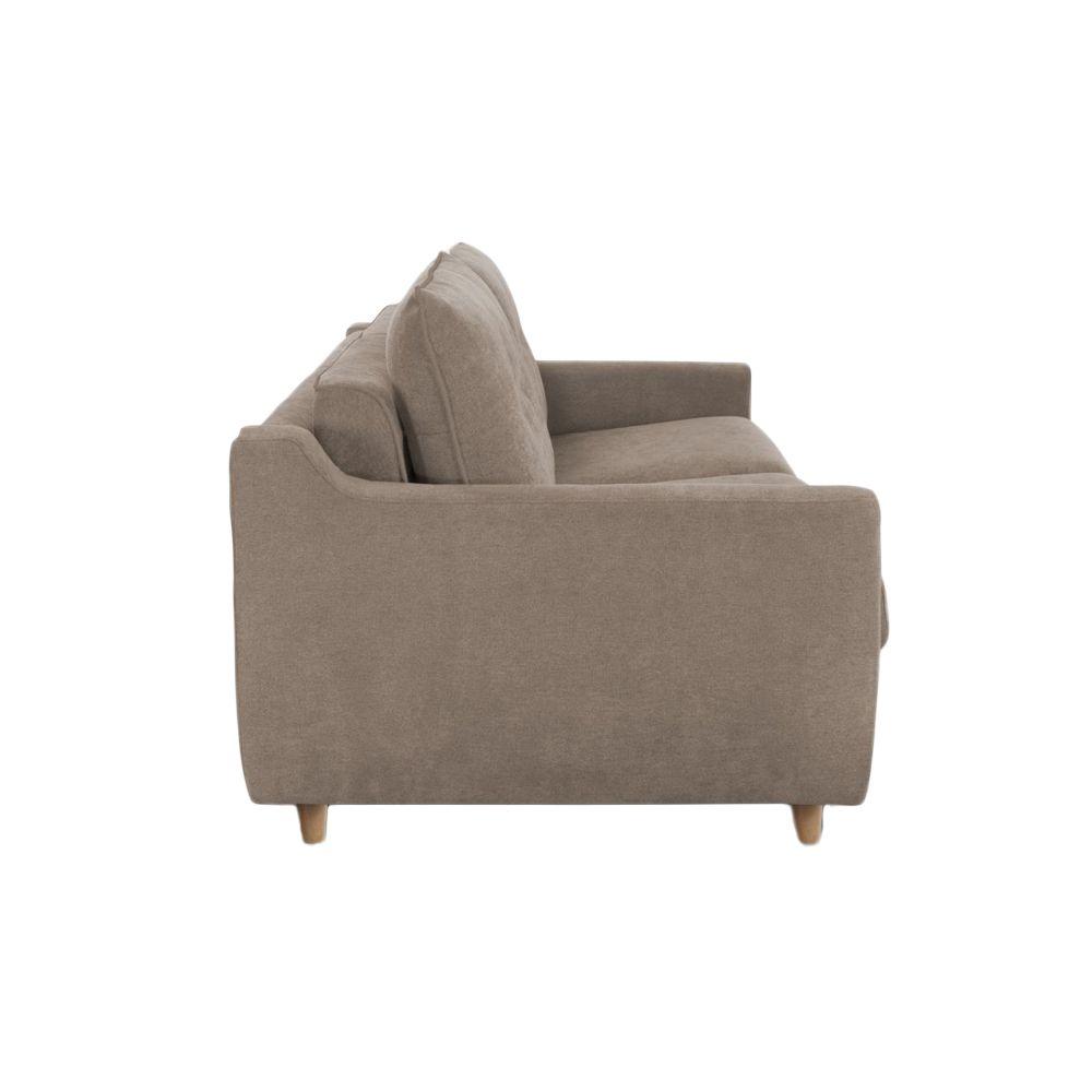 Canapé convertible Rapid\'lit STELLA, couchage 160cm en tissu chiné ARTEMIS