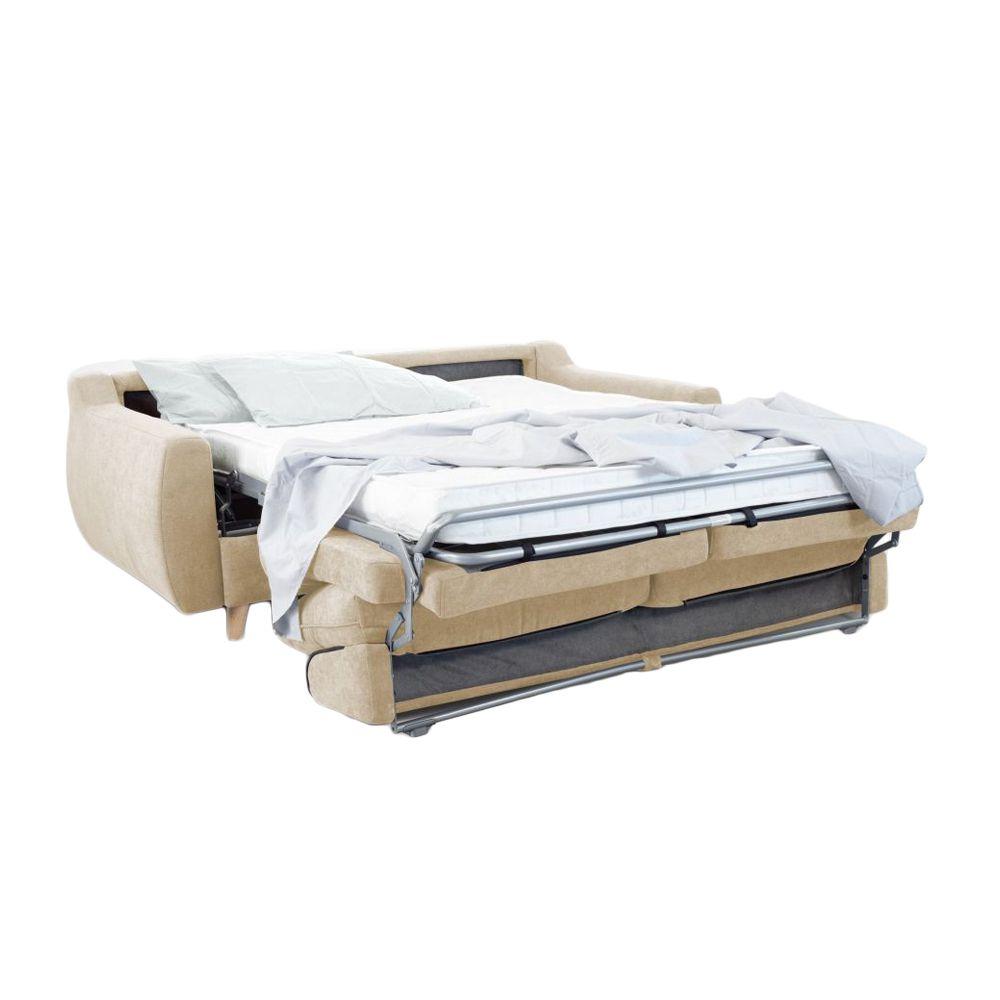 Canapé convertible Rapid\'lit STELLA, couchage 160cm en tissu LUNA