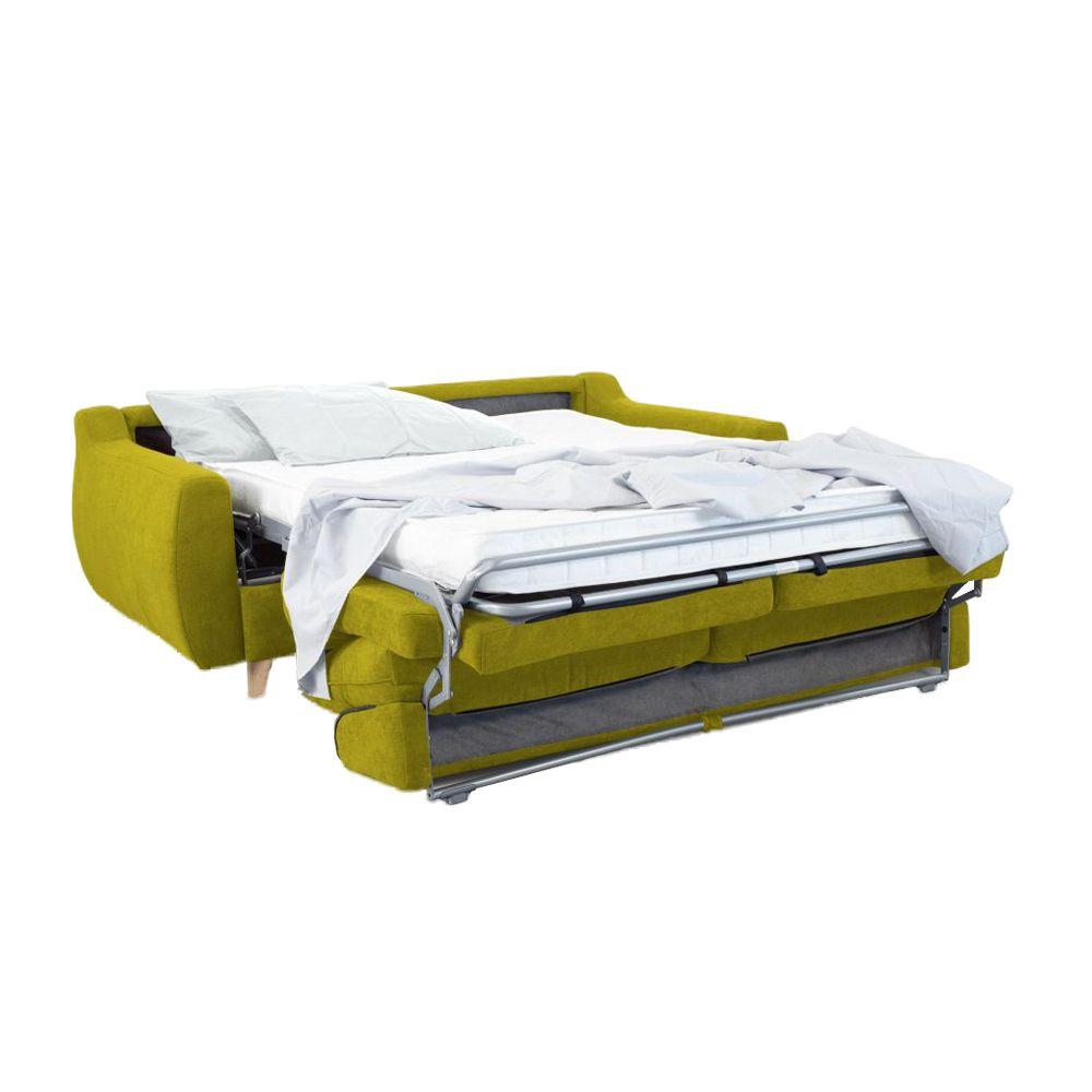 Canapé convertible Rapid\'lit STELLA, couchage 160cm en velours TIFFANY