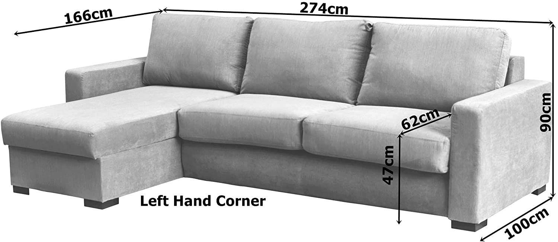 Canapé convertible RAPIDE PARIS avec méridienne réversible en tissu ARTEMIS