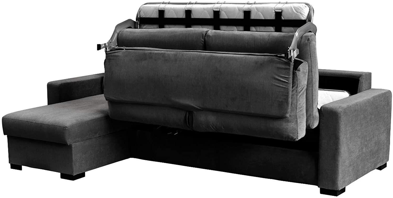 Canapé convertible RAPIDE PARIS avec méridienne réversible en Tissu LUNA