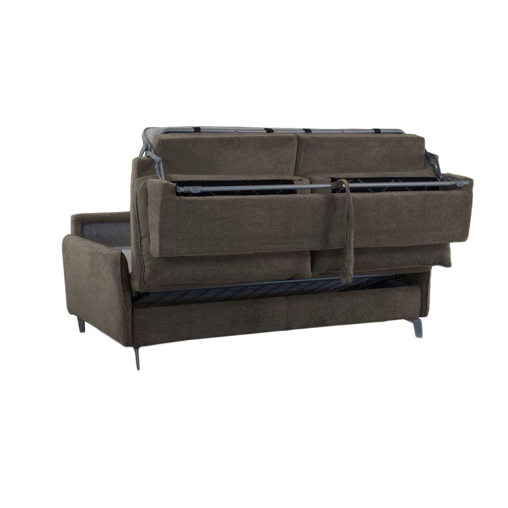 Canapé convertible STAR usage quotidien, système rapid\'lit (dit rapido) couchage 120cm en tissu chiné ARTEMIS