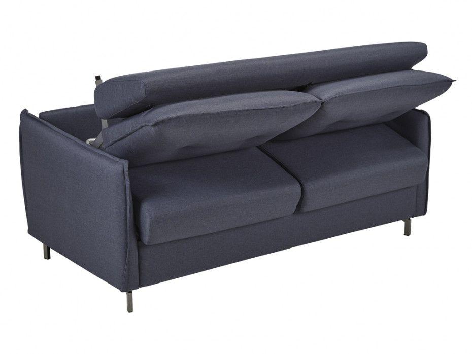 Canapé convertible STAR usage quotidien, système rapid\'lit (dit rapido) couchage 120cm en tissu TIFFANY