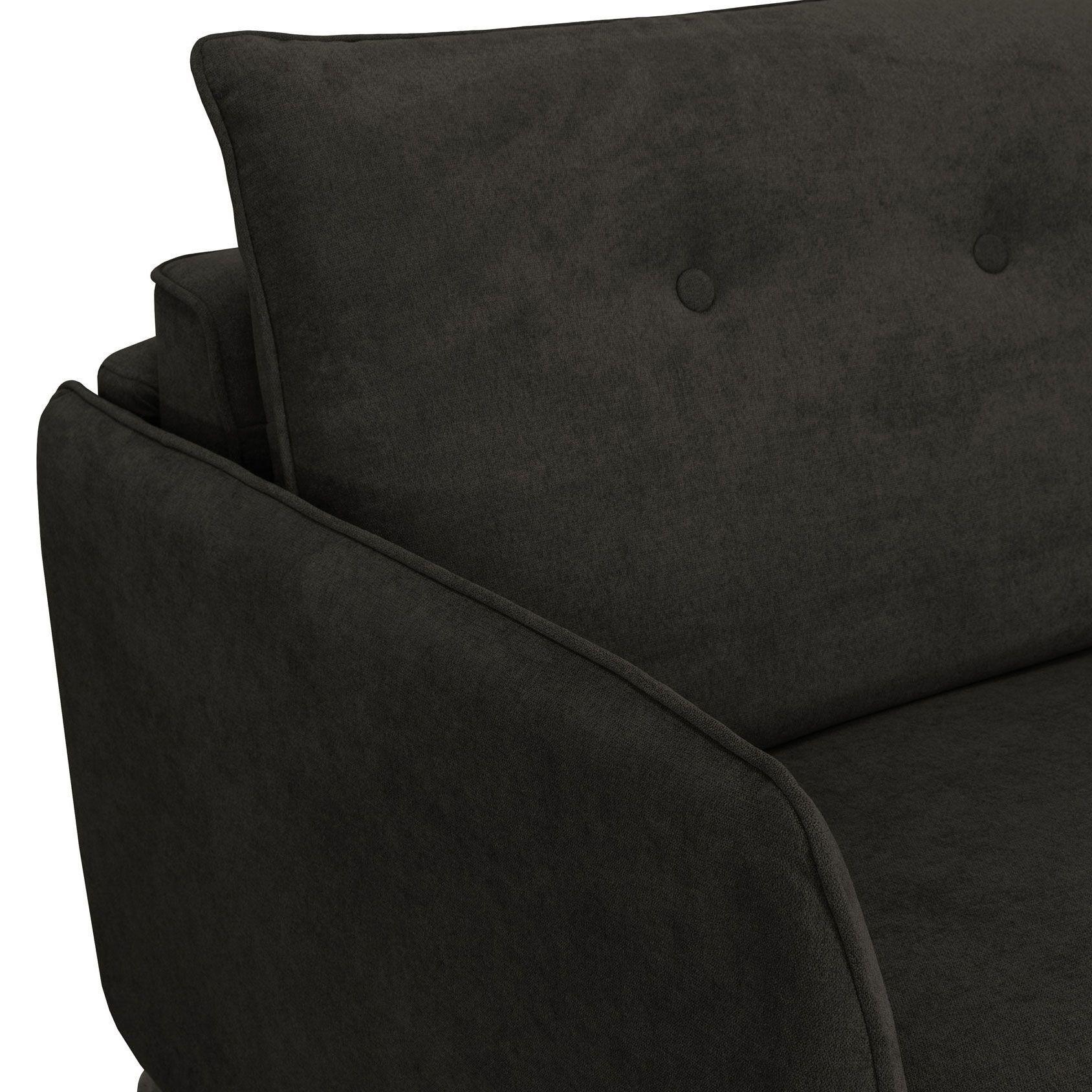 Canapé convertible STAR usage quotidien, système rapid\'lit (dit rapido) couchage 140cm en tissu chiné TIFFANY