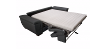 Canapé convertible usage quotidien RAYMOND couchage 140cm en simili cuir PU