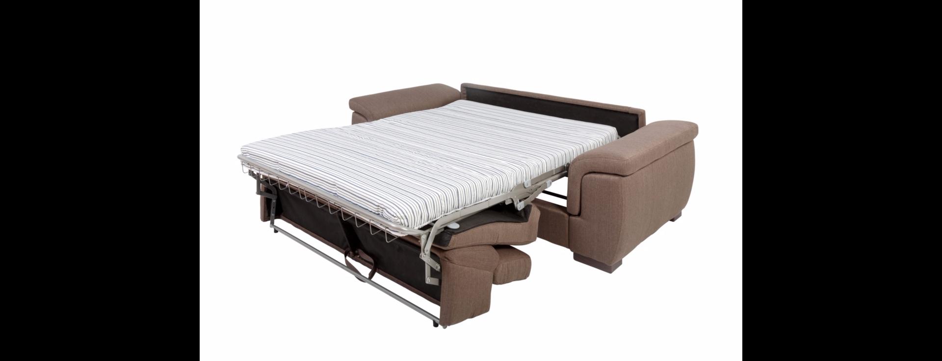 Canapé convertible usage quotidien RAYMOND couchage 140cm en tissu nubuck épais EVA