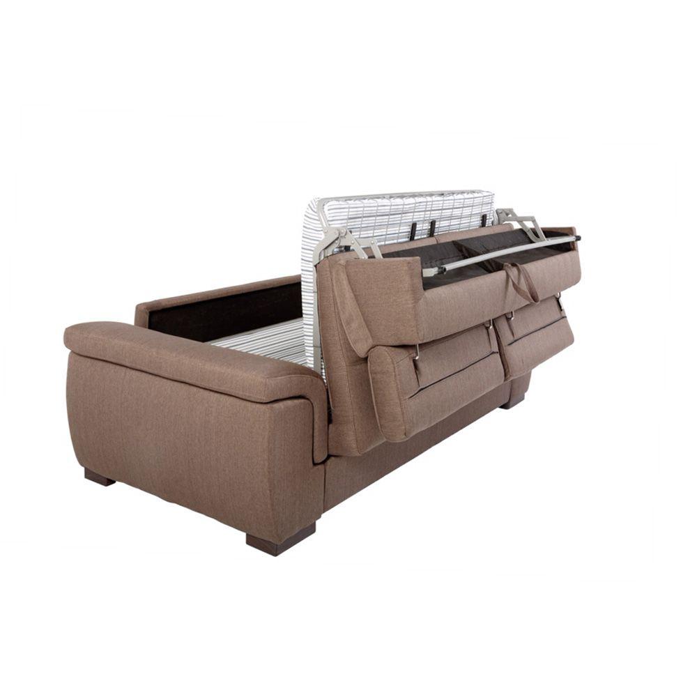 Canapé convertible usage quotidien RAYMOND couchage 140cm en tissu tweed MARA