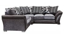 Canapé d\'angle 5/6 places (2R2) SHANNON revêtement principal tissu COBRA