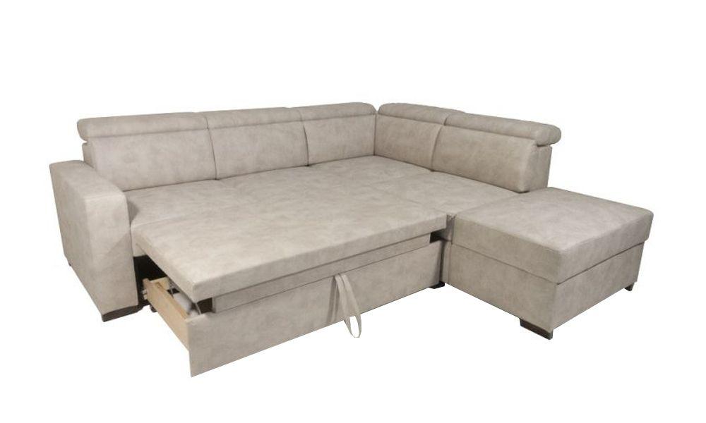 Canapé d\'angle BIG KEROS convertible gigogne méridienne angle droit (non réversible) tissu imitation cuir
