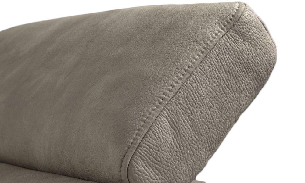 Canapé d\'angle convertible RAYMOND système gigogne, méridienne réversible en tissu épais EVA