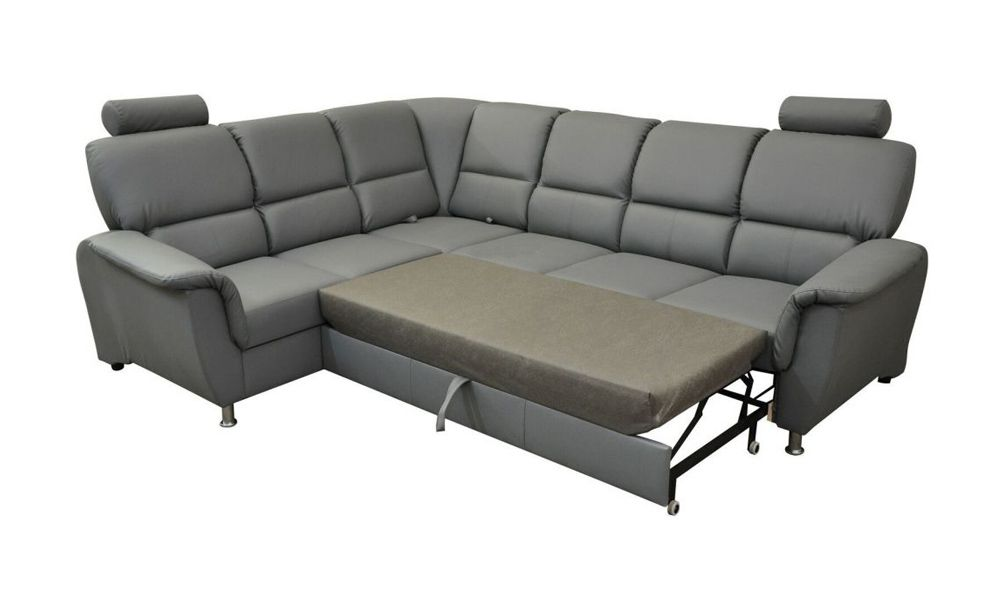 Canapé d\'angle convertible SAN DIEGO système gigogne, angle gauche (non réversible) en simili cuir
