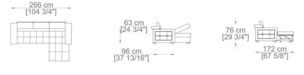 Canapé d\'angle DYLAN convertible système gigogne angle droit (non réversible) tissu imitation cuir EVA