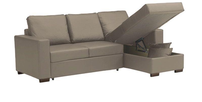 Canapé d\'angle PONZA réversible en tissu épais nubuck EVA