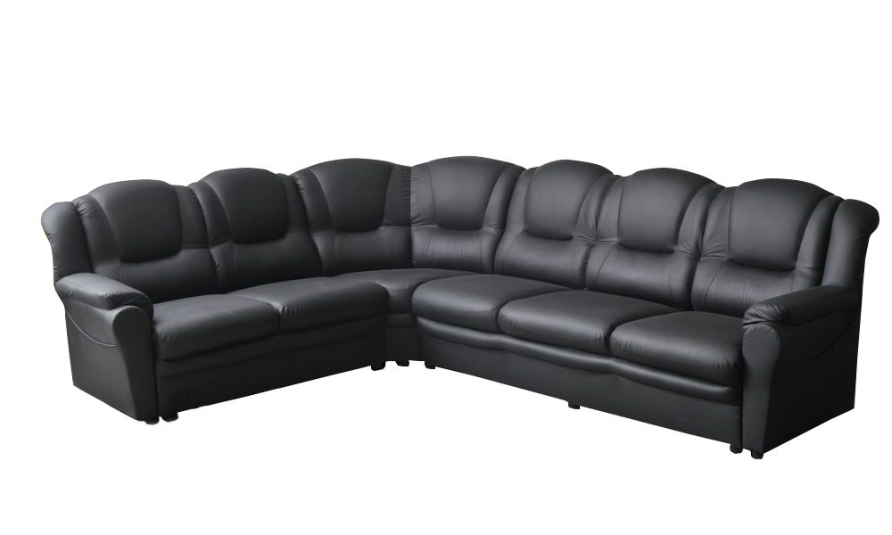 Canapé d\'angle TEXAS réversible en cuir éco (dit synderme)