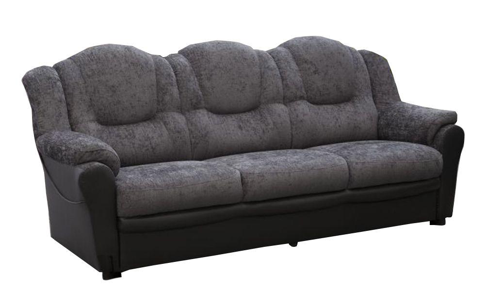 Canapé fixe 3 places TEXAS en simili cuir