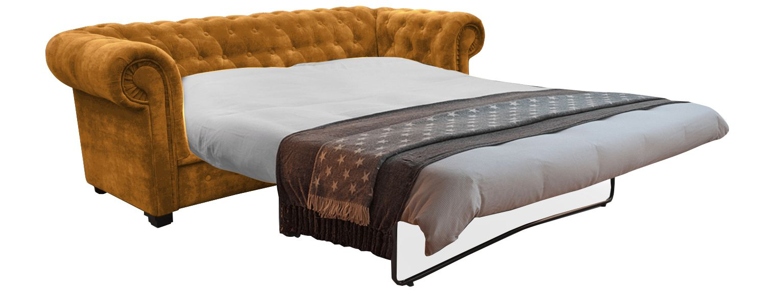 Canapés 2 Places chesterfield  velours TIFFANY CONVERTIBLE