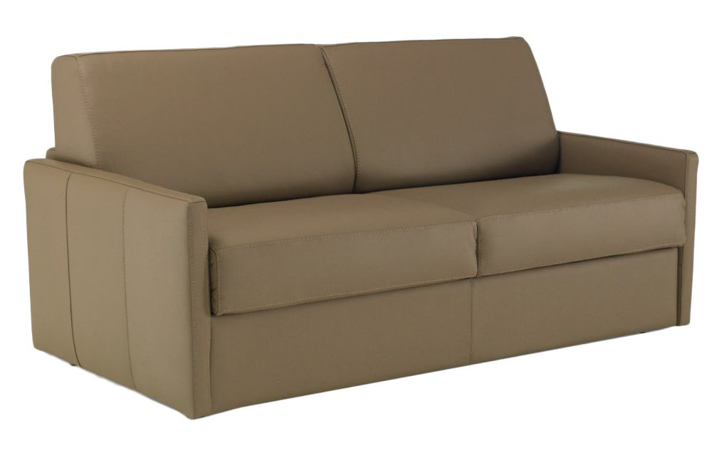 Convertible rapido ALICE couchage 140cm MATELAS 13cm densité 45kg en cuir régénéré