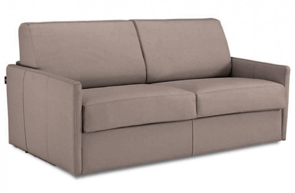 Convertible rapido ALICE couchage 160cm MATELAS 13cm densité 45kg en cuir régénéré
