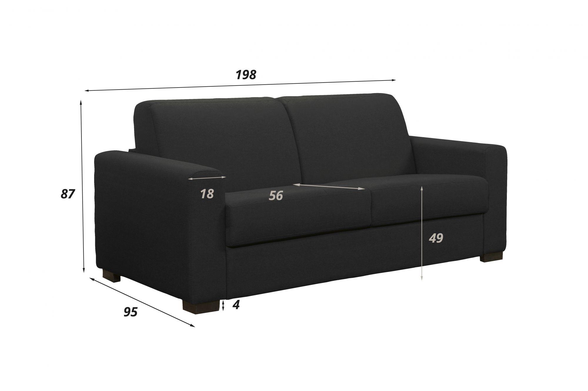 Convertible rapido BOLOTEX couchage 140cm MATELAS BULTEX 12cm