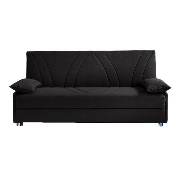 EDDY, canapé Clic-clac revêtement tissu effet cuir Tobago ou Largo