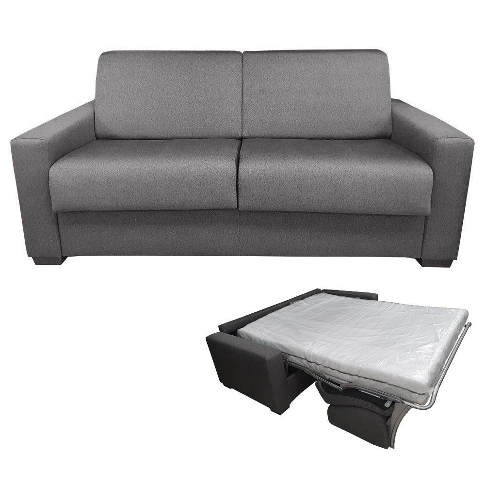 GIANT21, Canapé convertible usage quotidien, revêtement Tissu Artemis ou Luna, couchage 120cm/140cm ou 160cm