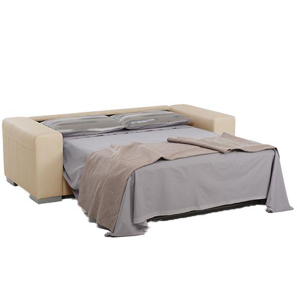 INNSBRUCK, Convertible pour couchage quotidien 140 cm, Revêtement Tissu effet Cuir Tobago ou Largo