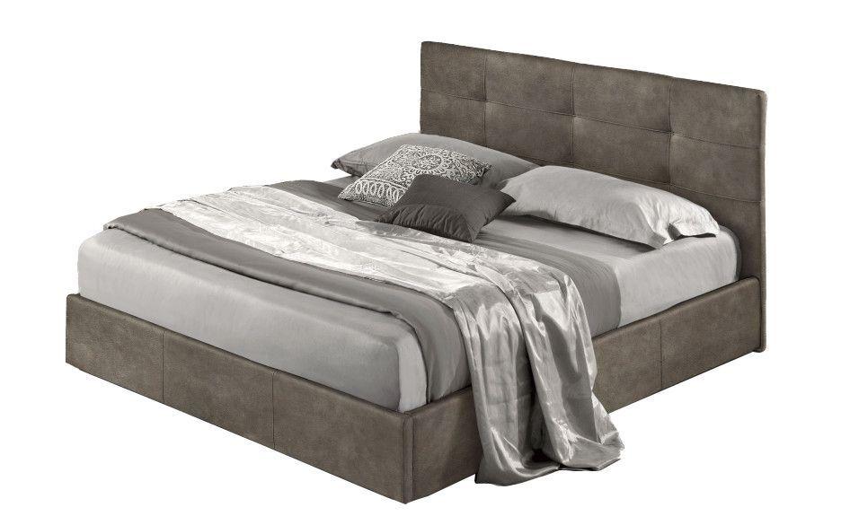 Lit coffre 6 points existe en plusieurs tailles de couchage : 90/12/140x190cm 160/180x200cm en tissu Nubuck