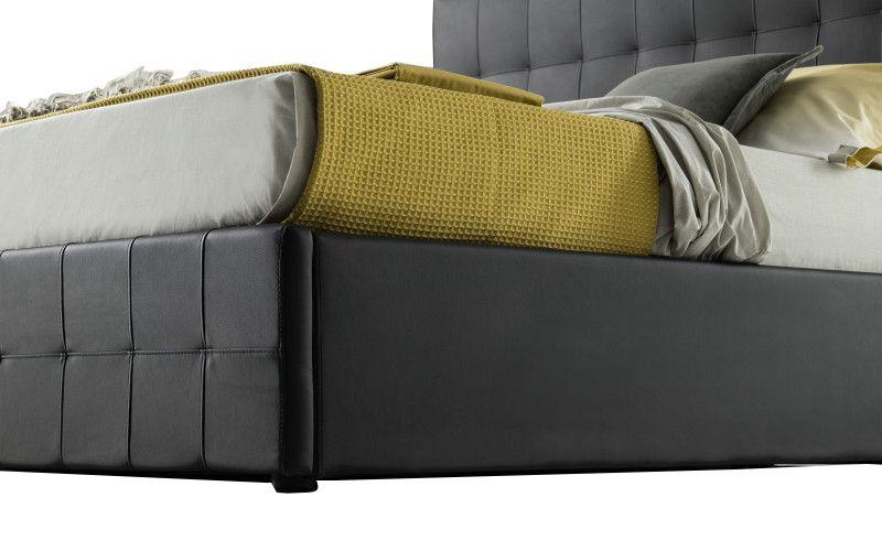 Lit coffre CITY2 existe en plusieurs tailles de couchage : 120/140x190cm 160/180x200cm en simili cuir PU