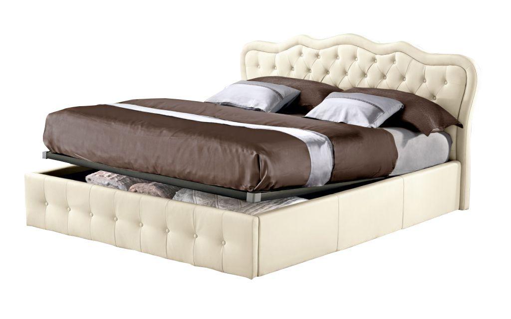 Lit coffre CLASSICAL existe en plusieurs tailles de couchage : 120/140x190cm 160/180x200cm en simili cuir PU