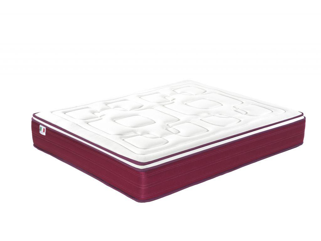 Matelas AMOUR ressorts ensachés 7 zones de soutien avec memoire de forme 2cm, épaisseur 25cm