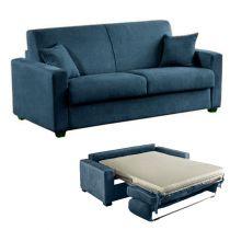 MATHIAS, Canapé convertible,<br>Revêtement Tissu Artemis ou Luna,<br>Pour couchage quotidien 120, 140 ou 160cm